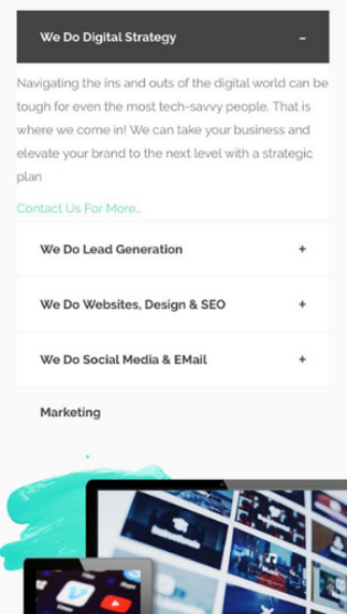 Mobile Friendly Digital Strategy Website Screenshot