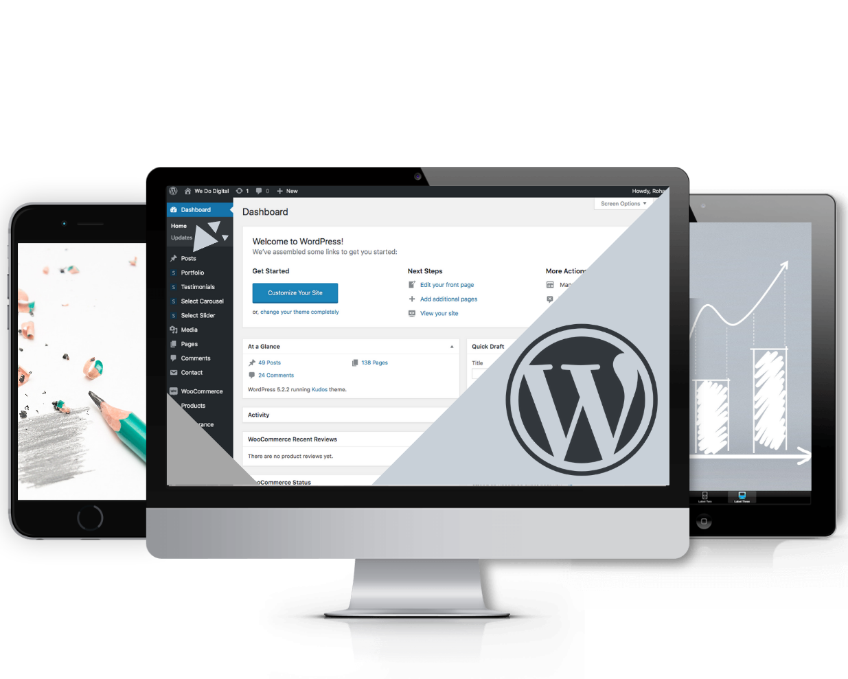 Wordpress Backend desktop image